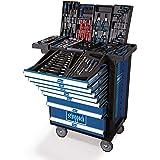 Scheppach 5909304900 TW1000 werkplaatswagen 263-delig Accessoires, goed gesorteerd, afsluitbaar en mobiel