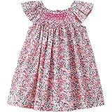فساتين كاجوال صيفي للأطفال من Simplee مطبوع عليها زهور فستان الأميرة فستان الشمس للأطفال بعمر 1-4 سنوات