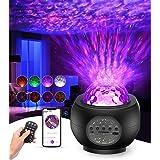 Proiettore Stelle Bambin, Luce Notturna Bambini Proiettore Luci Cielo Stellato Lampada Led 360 Rotazione con Altoparlante Blu