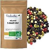 Cinco Pimienta BIO 100g - 5 bayas mezcla - granos enteros orgánico - bolsa biodegradable -