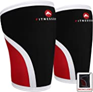 Fitnessery Knee Sleeves for Crossfit, Powerlifting, Weightlifting and Knee Support - 7mm Knee Sleeves - Knee Sleeves Crossfit