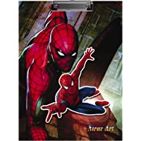 2Mech Spiderman Design Premium Quality Clipboard/Examination Pad/Exam Pad/Writing Pad Multi Color Size-9.5x13.5 Inches