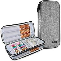 ProCase Trousse Double (Pas d'Accessoires Inclus) pour Accessoires et Outils de Crochet, Petit Sac pour Crochet Aiguille…