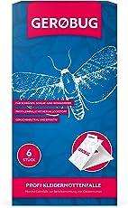 Gerobug 6 x Profi Kleidermottenfalle Profi Mottenfalle gegen Kleidermotten für effektive Bekämpfung - Effektiver Mottenschutz für den Kleiderschrank - Klebefalle gegen Motten Inklusive E-Book