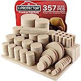 Almohadillas de fieltro para muebles X-PROTECTOR – 357 gran paquete de almohadillas para patas de muebles – Las mejores almoh