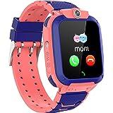 GPS Horloge voor Kinderen, IP68 Waterdichte 2G Kinderen Smart Horloge Compatibel met IOS Android, met GPS Tracker, SOS, Alarm