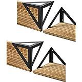 Retailmonk Heavy Duty Triangle Shaped Wall Shelf Angle Brackets, Powder Coated Steel Angle Wall Shelves Metal Brackets - Only