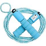 Cuerda para Saltar Ajustable Saltar la Cuerda de Fitness y Mango de Espuma con Contando Cuerda de Salto para Niños Niña Mujer