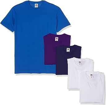 Fruit of the Loom Super Premium Short Sleeve T-Shirt (Pacco da 5) Uomo
