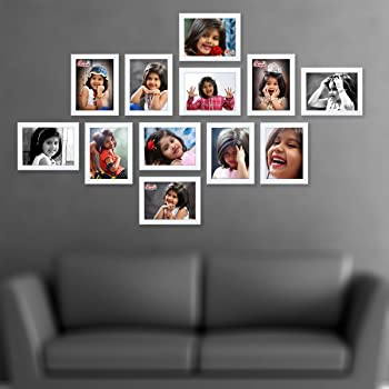 AJANTA ROYAL Synthetic Wood Classic Individual Photo Frames(White, 12-6x8-inch) - Set of 12
