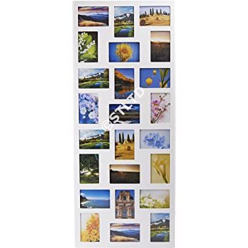 1cda12fb94 PHOTO PICTURE FRAME HOLDS 24 PHOTOS APERTURE MULTI FRAME COLLAGE BLACK WHITE