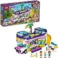 LEGO Friends Il Bus dell'Amicizia con Piscina e Scivolo, Playset con 3 Mini Bamboline, Autobus Giocattoli per Bambini di 8 An