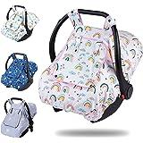 غطاء مقعد السيارة للفتيات من بريمليكت، مظلة محمولة 3 في 1 مع نافذة زقزقة، أغطية مقاعد السيارة مسامية للأطفال الرضع، تناسب جمي