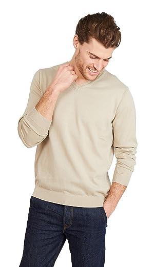 Jack Stuart Maglione con Scollo a V a Maniche Lunghe in Cotone 100/% Stile Casual Elegante per Uomo