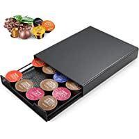 Meelio Cafe - Porte capsules Nespresso, Dolce Gusto, Tchibo, Lavazza - 20 capsules - Pieds antidérapants - Tiroir en…