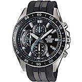Casio EDIFICE Reloj en caja sólida de acero inoxidable, 10 BAR, Negro/Azul, para Hombre, con Correa de Resina, EFV-550P-1AVUE