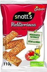Snatt's Grefusa Snacks Mediterráneos Palitos de Pan de Tomate y Finas Hierbas, 110g