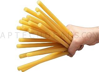 Yellow glue stick / All Purpose Yellow Hot Melt Glue Sticks Heavy Gumming (20)