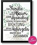 Familie ist wie ein Baum Geschenke Bild mit Rahmen Geschenkidee zum Vatertag Muttertag Geburtstag Hochzeitstag Ostern für...