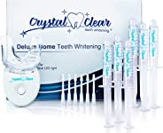 Teeth Whitening Kit, Crystal Clear Teeth Whitening Gel (6 Pack) MADE IN USA! Dentists APPROVED.Money Back Guaranteed