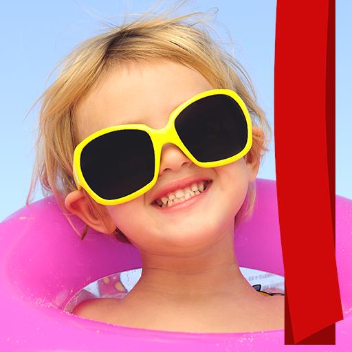 Sonnenbrille Foto Montage