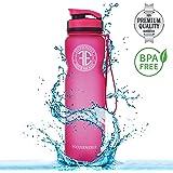 FOCUSENERGY Sport Trinkflasche aus Edlem Tritan - Hochwertige 1000ml Sportflasche mit Fruchtsieb - 100% BPA Freie Sporttrinkflasche - Outdoor & Fitness Flasche oder auch Praktische Fahrradflasche