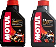 Motul 7100 Fully Synthetic Petrol Engine Oil for Bikes (1.5L+1L) Combo