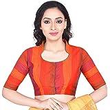RENE Women's Dupion Striped Blouse (D-005400-Multicolor)