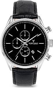 Vincero Luxury Orologio da polso da uomo Chrono S - Orologio cronografo 43mm - Movimento al quarzo giapponese