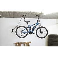 FISCHER Listello per bicicletta fino a 30 kg, supporto da soffitto per biciclette ed e-bike, fino a 4 m di altezza…
