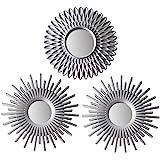 BONNYCO Espejos Pared Decorativos Plateados Pack 3 Espejos Decorativos Ideales para Decoracion Casa, Habitación y Salón | Esp
