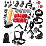 Yantralay 40 in 1 Outdoor Sports Accessory Kit Compatible with gopro Hero 9/8/7/6/5, SJCAM SJ4000 SJ5000, Yi & Other Action C