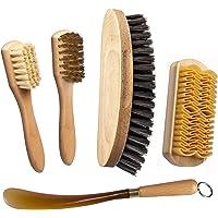 Nettoyage et Soin des Chaussures. Brosse à Chaussures + Brosse avec Laiton + Brosse à suède brosser avec du Caoutchouc…