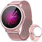 NAIXUES Smartwatch Dames IP68 Smart Watch met 24 sportmodi, hartslagmeter, slaapmonitor, slimme meldingen, 1,28 inch smartwat