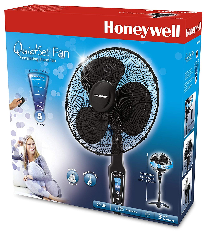 "81AuA2joJ5L - Honeywell QuietSet 16"" Stand Fan Black with Remote Control and Sleep Mode"