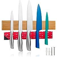 LARHN Porte Couteaux Aimanté avec Ruban Adhesif Inclus - 40cm/15.7in – Porte-Couteaux de Cuisine pour Les Couteaux, Les…