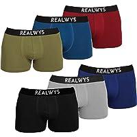 Realwys Boxer Briefs for Men 6 Pack , Cotton Breathable Men's Underwear