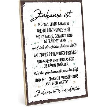 Typestoff Holzschild Mit Spruch Freunde Sind Wie Sterne Weiß