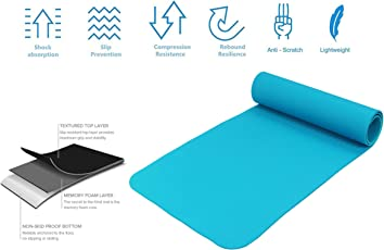 Strauss PE Eco-Friendly Yoga Mat, 6mm