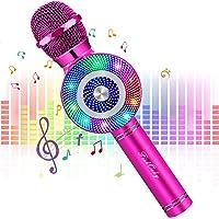 FISHOAKY 4 in 1 Wireless Bambini Karaoke, Microfono Karaoke Bluetooth, Portatile Karaoke Microfono con Altoparlante per…