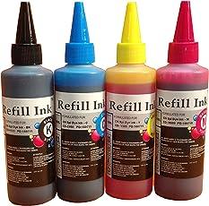 AC cartridge ink Refill Bottle 4 pic (Black Cyan Yellow Magenta) for HP 21 22 56 57 901 853 854 857 15 78 23 45 818 802 803 680 678 46 704 703 900