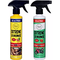 Wavex® Extreme Shine Car Dashboard and Tyre Polish (2 Pcs,350ml each=700ml) Guava and Peach Fragrance Inside Car, For High Shine Lovers, Works great on Plastic, Leather, Vinyl and Rubber Surfaces, Restores Color, Increase Life