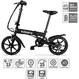 Nilox Doc X2, Bicicletta Elettrica, E-bike, Bicicletta a Pedalata Assistita, Bicicletta Elettrica Pieghevole,Ruota 16'', Motore  36V/250 W, Velocità max 25 Km/h, Nero