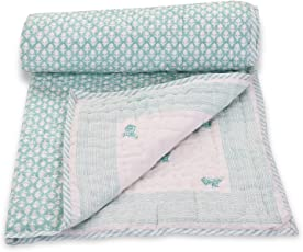Mom's Home Organic Cotton Baby Quilt - 0-5 Years - 100*150* 5 Cms