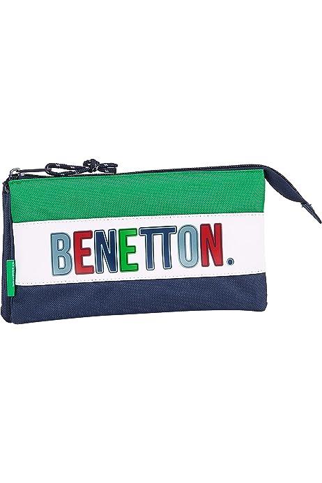 safta 812006744 Estuche portatodo Triple Escolar Benetton, Multicolor: Amazon.es: Equipaje