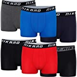 Nikaro Men's Hipster Boxer Novelty Breathable Cotton Fitted Trunks Underwear (6 and 12 Pack)