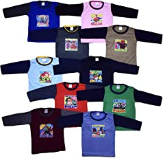 10 Full Sleeve Cotton Tshirts for Baby Boys and Girls 6 Months to All Ages