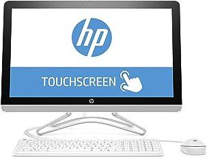 HP 24-e054ng 60,45 cm (23,8 Zoll Full HD-IPS Touchscreen) All-in-One Desktop PC (Intel Core i3-7100U, 8GB RAM, 1TB HDD, Windows 10 Home 64) weiß