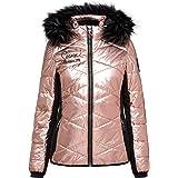 SOCCX Chaqueta acolchada para mujer en diseño de esquí con aspecto metálico.