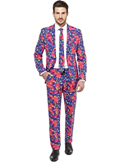 Opposuits The Fresh Prince tuta con Cravatta Pantaloni Jacket Slim Fit